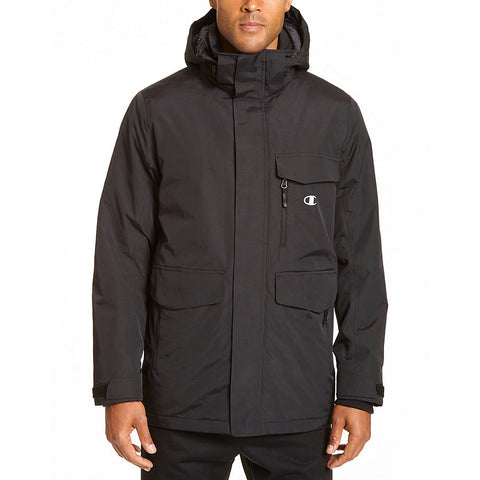 Champion Men's High Performance 2-Layer Jacket With Sherpa Lining|Size XL|Color Black