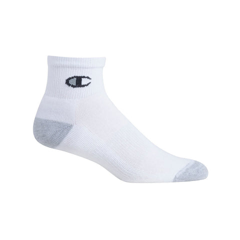 Champion Men's Ankle Socks 6-Pack|Size 6-12|Color White/Black