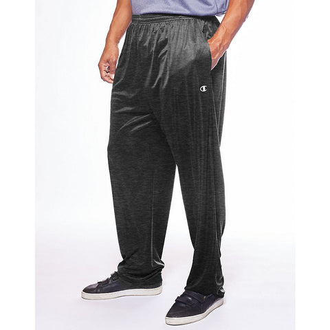 Champion Men's Big & Tall Performance Open Bottom Pant|Size 5XL|Color Granite Heather