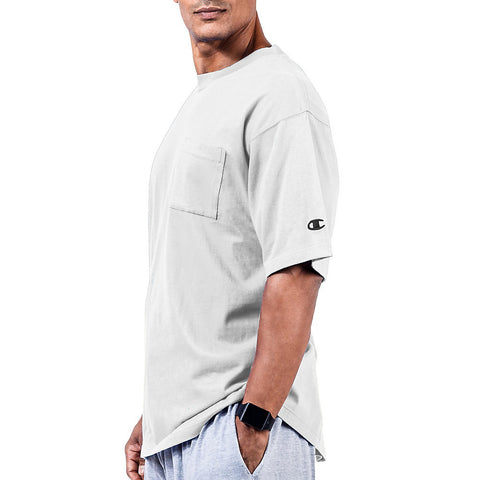 Champion Big & Tall Men's Short Sleeve Pocket Jersey Tee|Size 2XLT|Color White