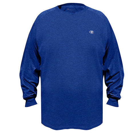 Champion Vapor® Big & Tall Jersey Long-Sleeve Tee|Size 3XL|Color Surf the Web/Navy