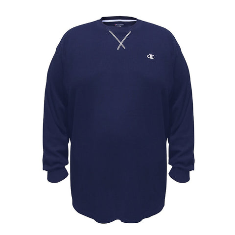 Champion Big & Tall Long-Sleeve Thermal Tee|Size 2XLT|Color Navy