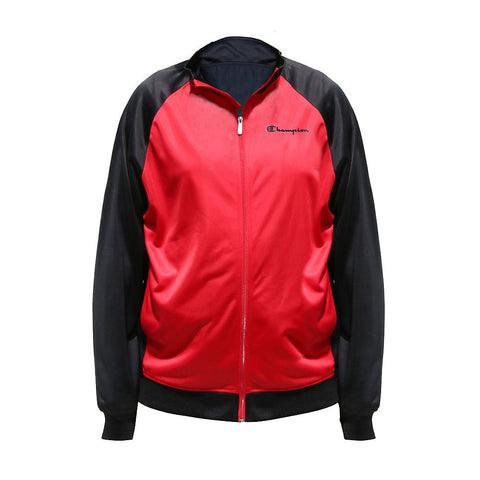 Champion Big & Tall Tricot Track Jacket|Size XLT|Color Scarlet/Stealth