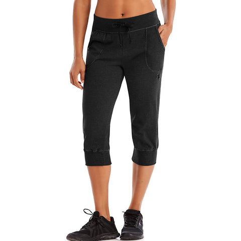 Champion Authentic Women's Jersey Banded Knee Pants|Size S|Color Black