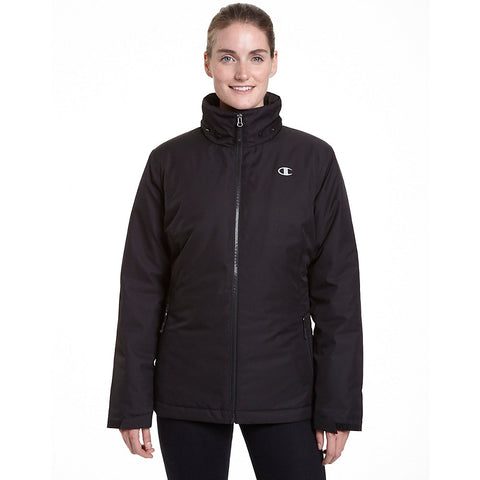 Champion Women's Plus Technical Heather 3-in-1 Jacket With Microfleece Liner