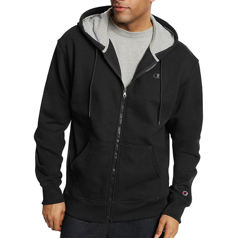 Champion Men's Powerblend® Fleece Full Zip Jacket|Size S|Color Black