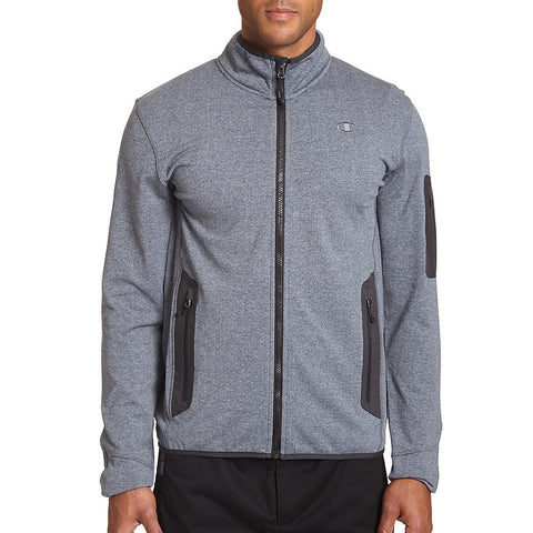 Champion Men's Tall Active Knit Jacket|Size LT|Color Stealth