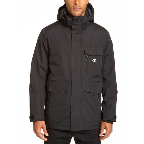 Champion Men's Tall High Performance 2-Layer Jacket With Sherpa Lining|Size LT|Color Black