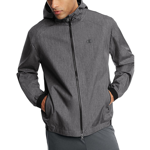 Champion Men's Woven Shell Jacket|Size 2XL|Color Granite Heather