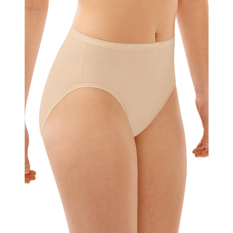 Bali Full-Cut Fit Hi-Cut Panty|Size 6|Color Soft Taupe
