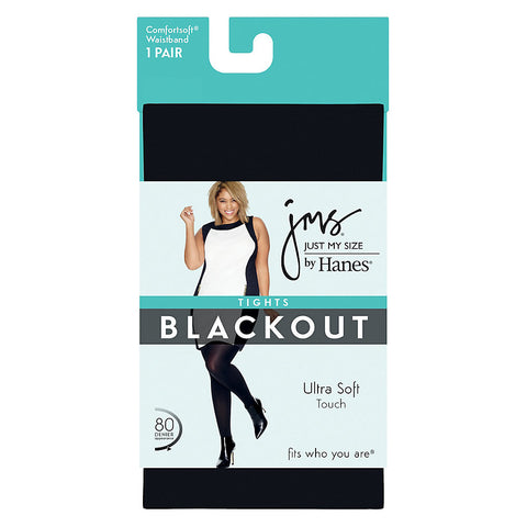 Just My Size Blackout Tight|Size 1X/2X|Color Black