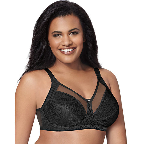 Just My Size Comfort Shaping Wirefree Bra|Size 42B|Color Black