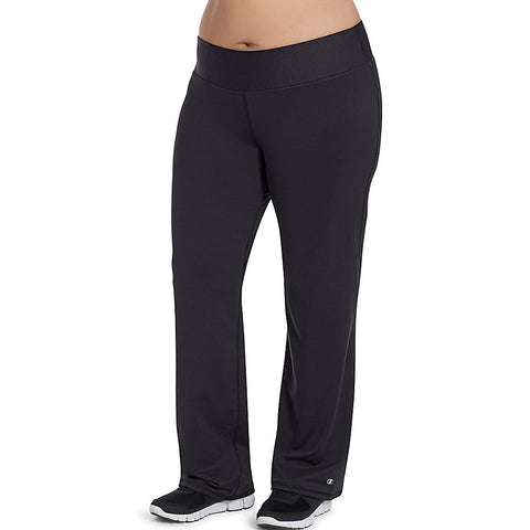 Champion Women's Plus Absolute Semi-Fit Pants with SmoothTec™ Band|Size 1X|Color Black