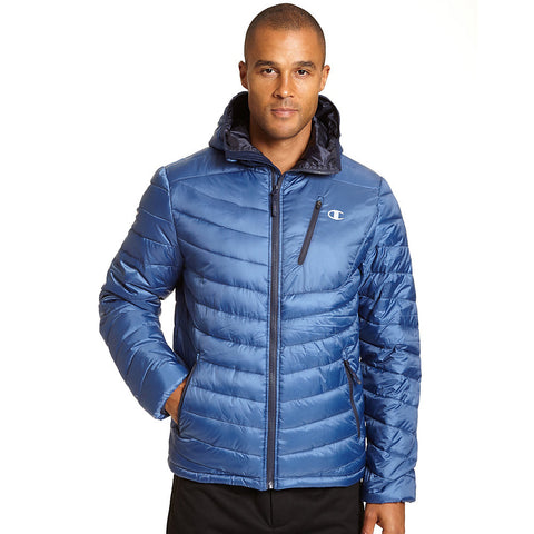 Champion Men's Tall Packable Performance Jacket With Reactive Fill|Size LT|Color Seabottom