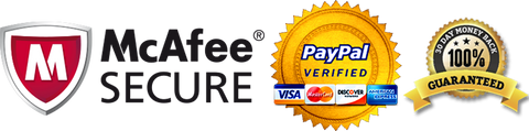 McAfee Secure, Paypal Verified, 30 day money back