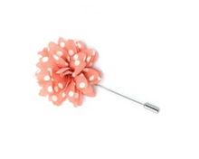 Polka Dot Lapel Flower Pin