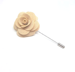 Cream Lapel Flower Pin