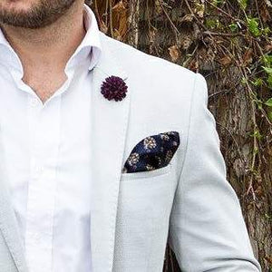 Purple Lapel Flower Pin