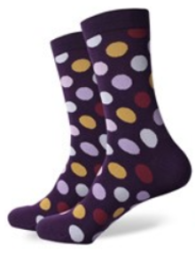 Purple Spot Socks