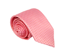 Pink with Red Spots Polyester Necktie