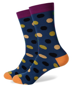 Blue Multi Colour Spot Socks for Men
