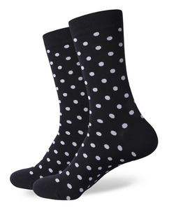 Black and White Polka Dot Socks
