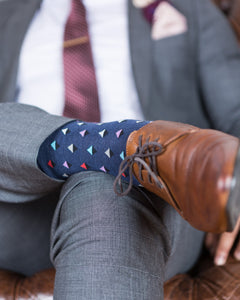 Blue Triangle Socks