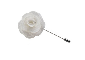 White Lapel Flower Pin