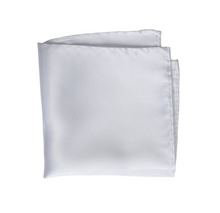 100% Silk White Pocket Square