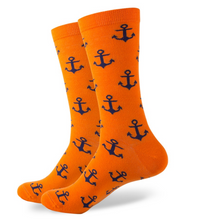 Orange Anchor Socks