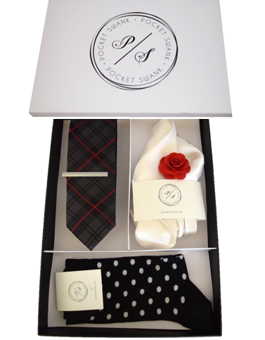Men's Gift Box including 5 suit accessories