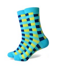 3 Pack Funky Socks (Blue and Yellow)