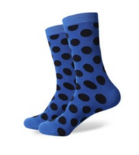 Blue and Navy Spot Socks