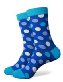Blue and White Spot Socks