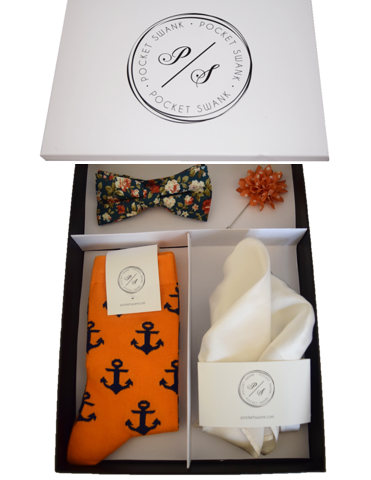 Bow Tie Box Set including 4 men's accessories