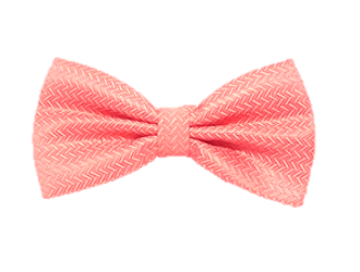 Peach Patterned Bow Tie