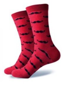 Pink Moustache Socks