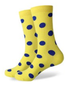 Yellow and Blue Spot Socks
