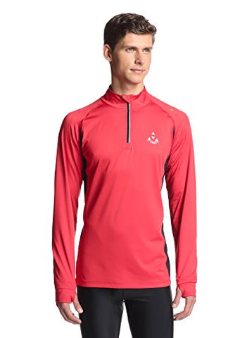 Mens Thermal Exercise Shirt With Brushed Interior