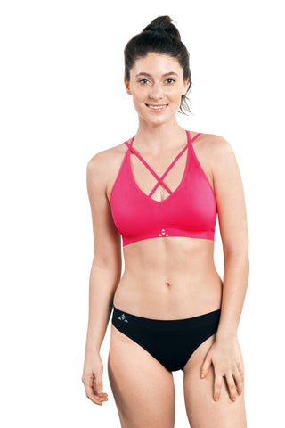 Balanced Tech T-back Bra Pink Glo