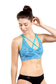 Balanced Tech T-back Bra Space Blue