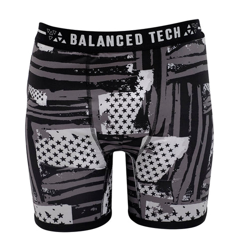 BALANCED TECH ABSTRACT PATRIOT PERFORMANCE BOXER BRIEF