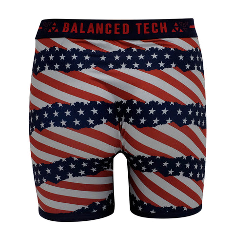 BALANCED TECH AMERICANA LIFE PERFORMANCE BOXER BRIEF