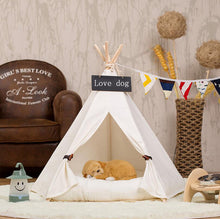Four Seasons Fabric Dog house dog bed Pet House Pet Tent Wood Kennel love Dog house Cat Bed House with mat SE19