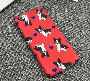 Red Boston Terrier Phone Case