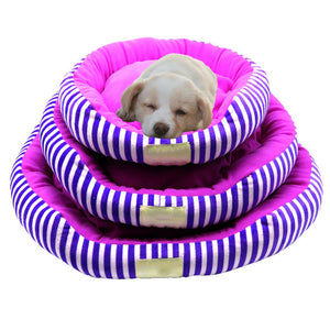 Girlie Striped Dog or Cat Bed