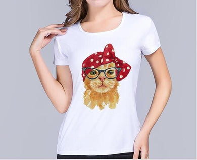 Slim Fit Women's Cute Cat Tee