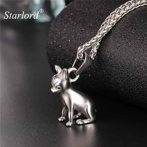 Starlord Chihuahuas Dog Necklace Pendant Collier Stainless Steel/Gold Color Chain Women/Men Collar Animal Pet Jewelry GP2464
