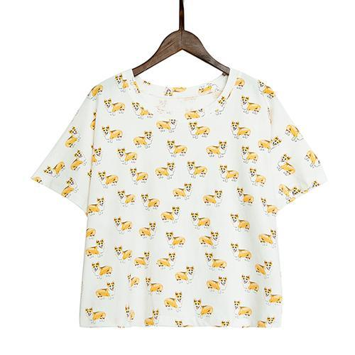 Women's Corgi Crop Top
