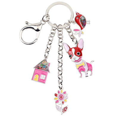 Metal Chihuahua Key Chain Key